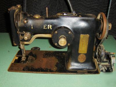 Antique singer industrial sewing machine