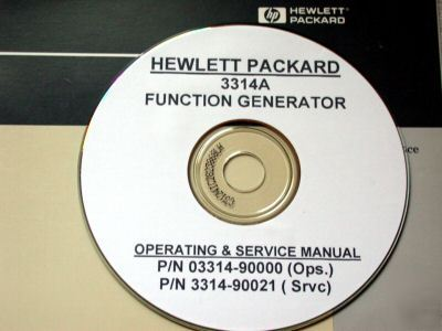Hp 3314a Service And Operation Manual