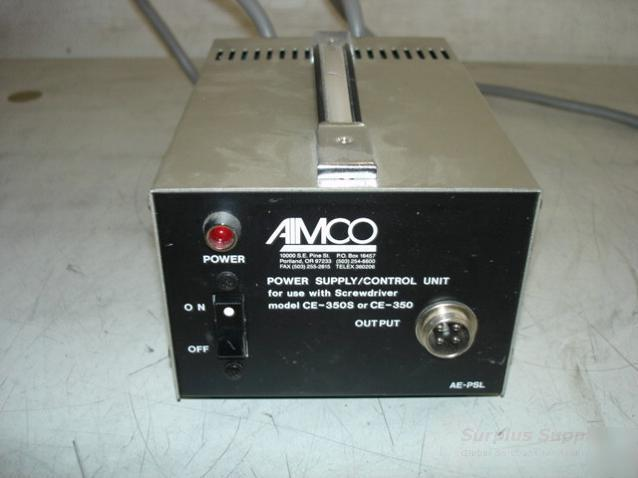 Aimco ae-psl electric screwdriver power supply