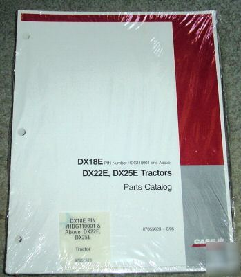 Case ih DX18E DX22E DX25E tractor parts catalog