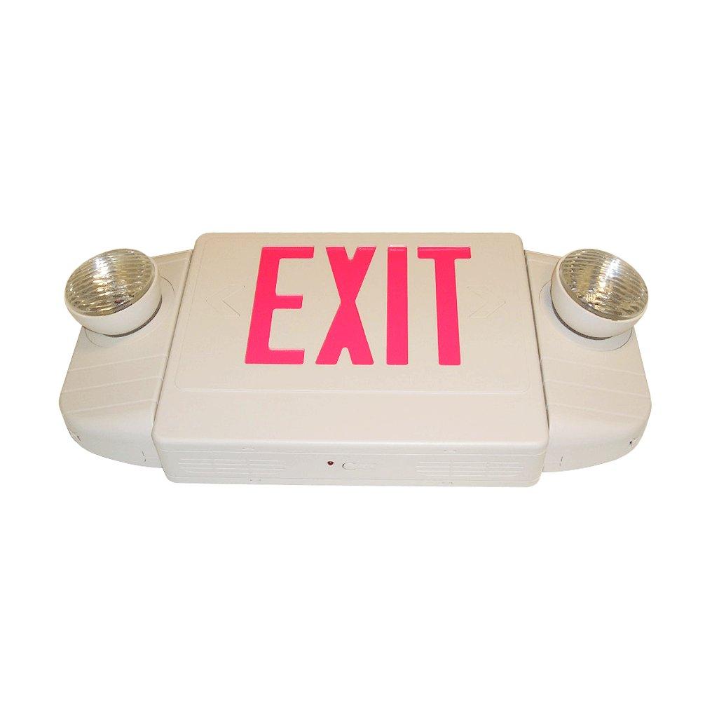 combo led exit sign emergency light e4br 1. Black Bedroom Furniture Sets. Home Design Ideas
