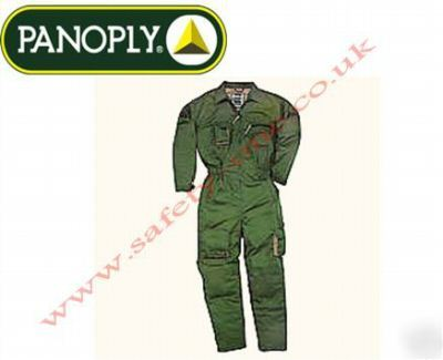 Green overalls boilersuit, knee pad pockets large