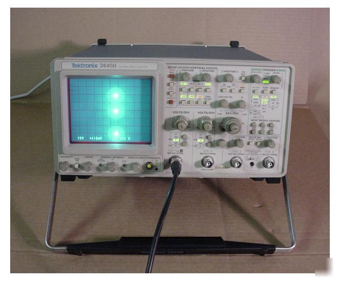 Tektronix Analog Oscilloscope : Tektronix b mhz analog oscilloscope ch serviced