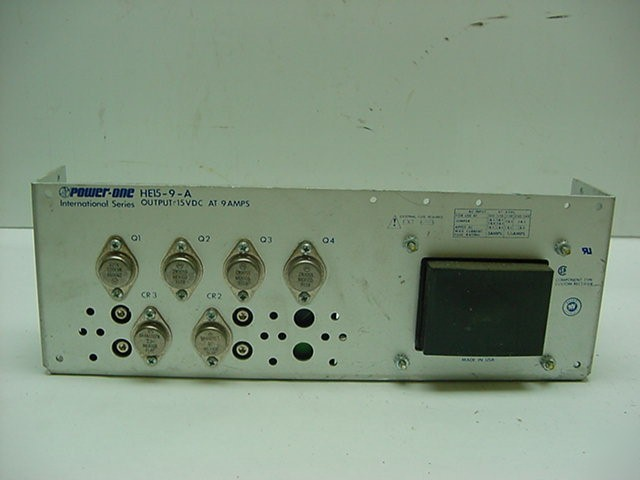 Power one HE15-9-a power supply 15VDC 9 amp
