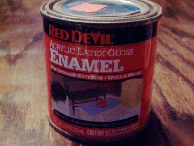 Acrylic Enamel Paint >> 8OZ red devil acrylic latex gloss bold blue 251 paint