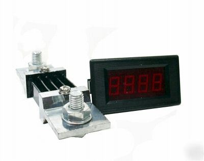 Dc 0-500A digital red led amp current meter w/ shunt