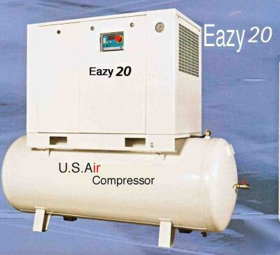 New us air rotary screw compressor 20 hp 88 cfm ir 20HP