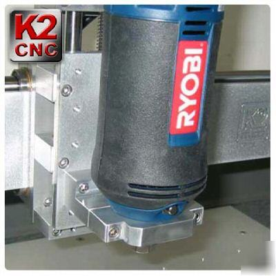 Cnc router mount for kress, rotozip and ryobi spindles